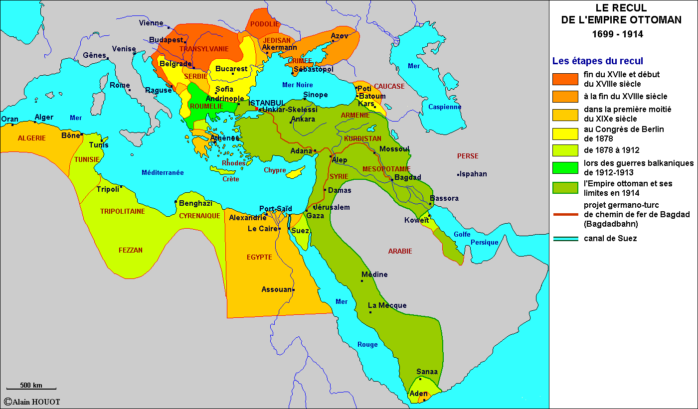 Le recul de l\'Empire ottoman 1699-1914