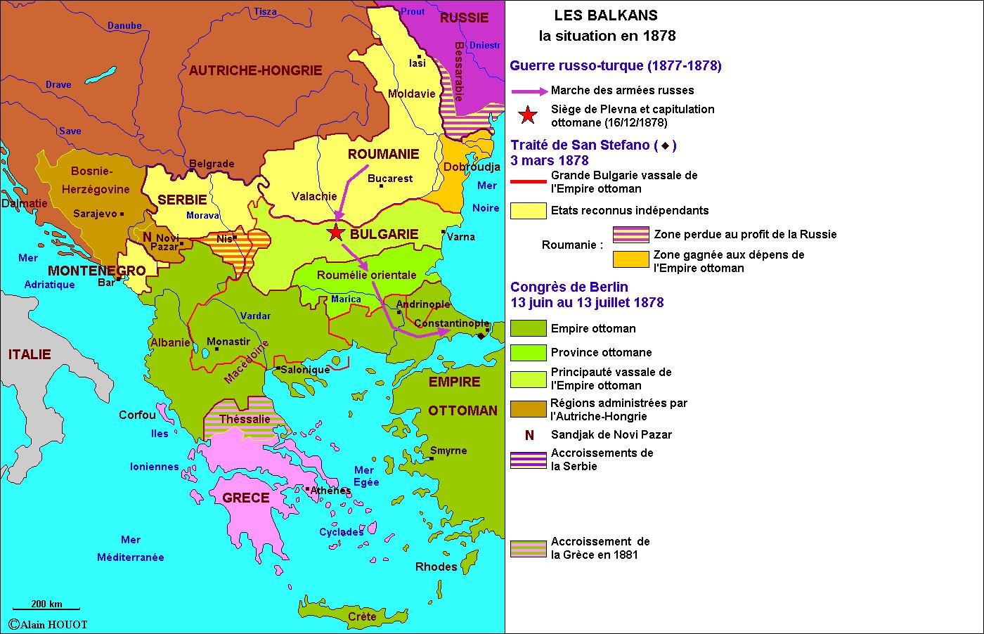Les Balkans, 1878