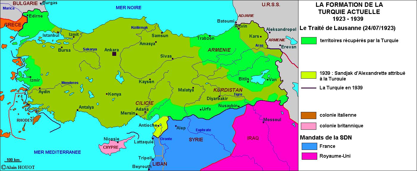 La formation de la Turquie actuelle, 1923-1939