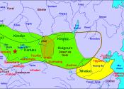 origines de l\'Empire ottoman (On trouvera sur le site d\'Alain Houot, monatlas.fr, cette carte, ainsi que les six suivantes.)