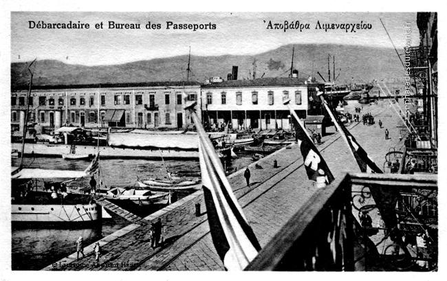 Smyrne, debarcadère, passeport (douane), 1924
