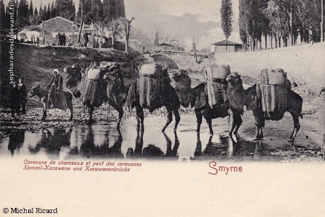 Smyrne, le pont des caravanes