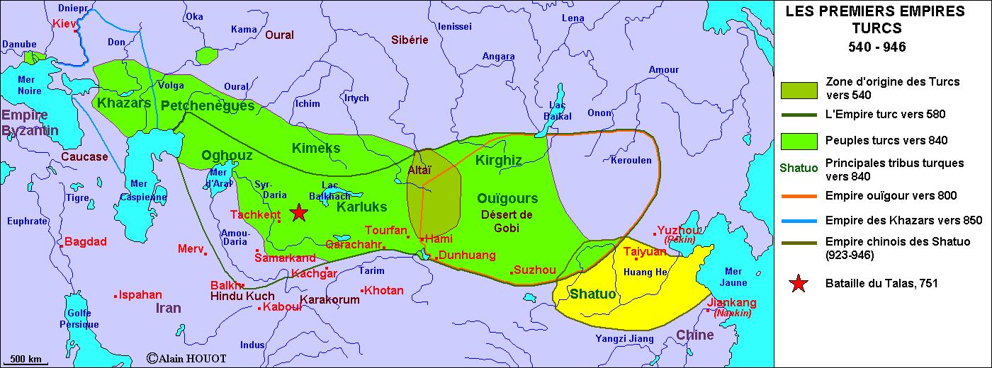 Les premiers empires turcs, 540-946