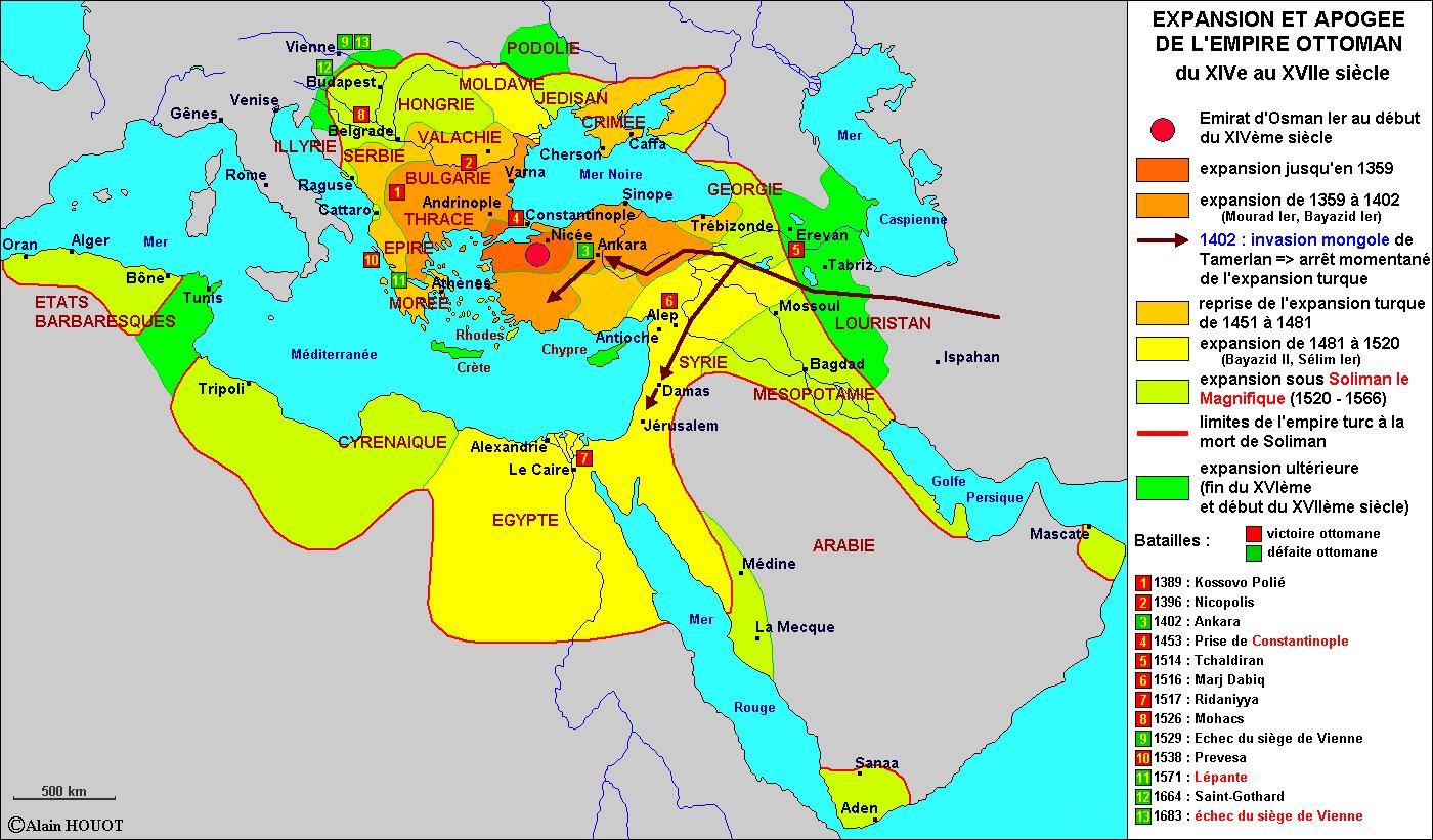 Expansion et apogée de l'Empire ottoman, XIV-XVII siècles