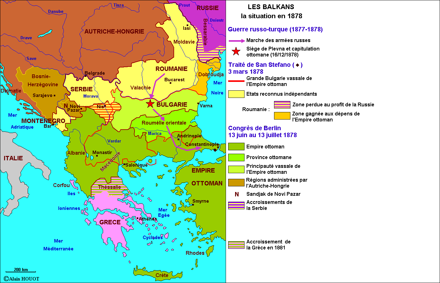 Les Balkans,1878