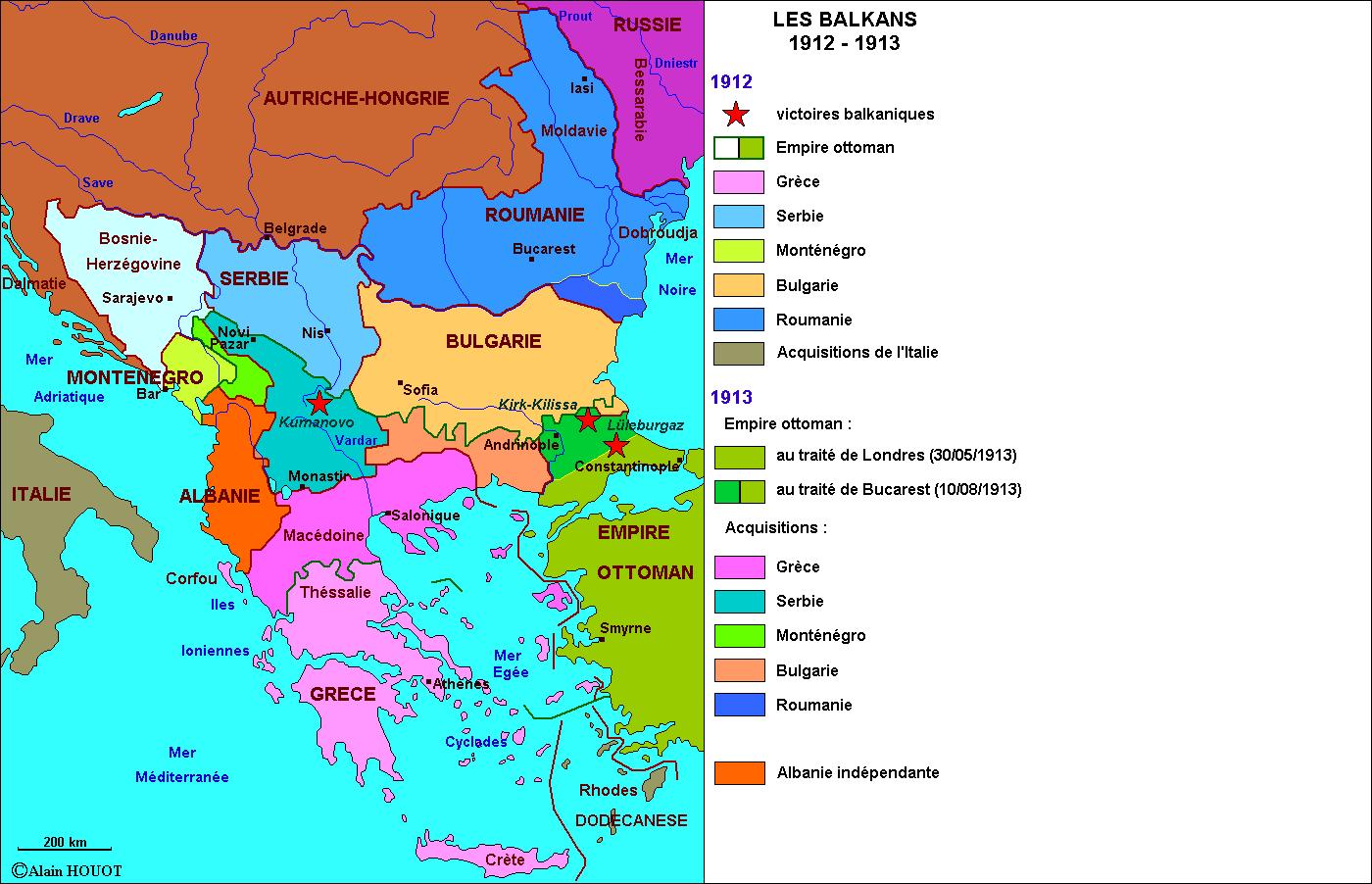 Les Balkans, 1912-1913