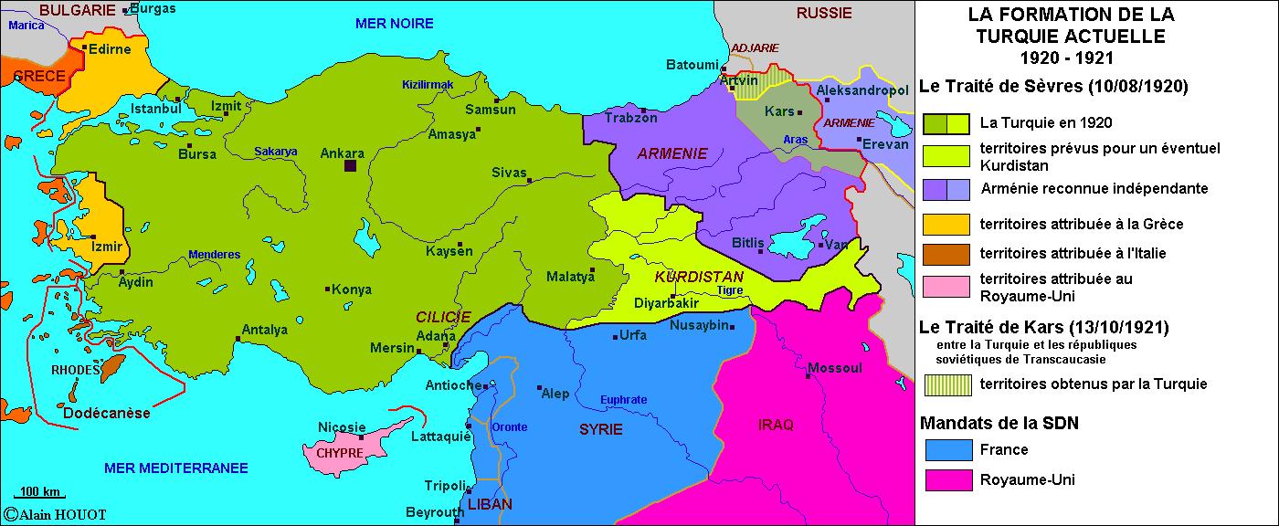La formation de la Turquie actuelle,1920-1921