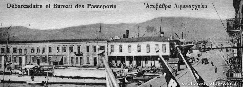 Smyrne, débarcadère, bureau des passeports